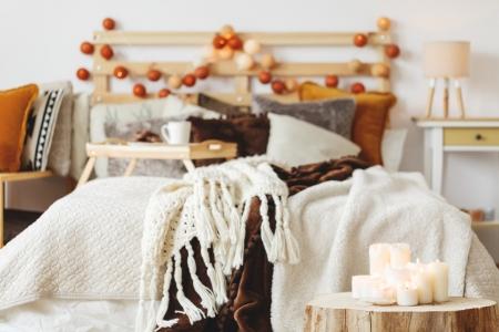 Скандинавский стиль: текстиль в интерьере